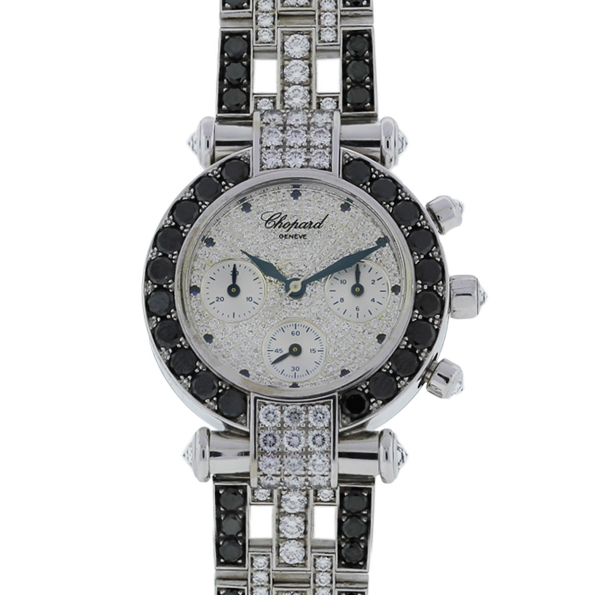 Diamond Watch Chopard Imperiale 18k White Gold Diamond Chronograph