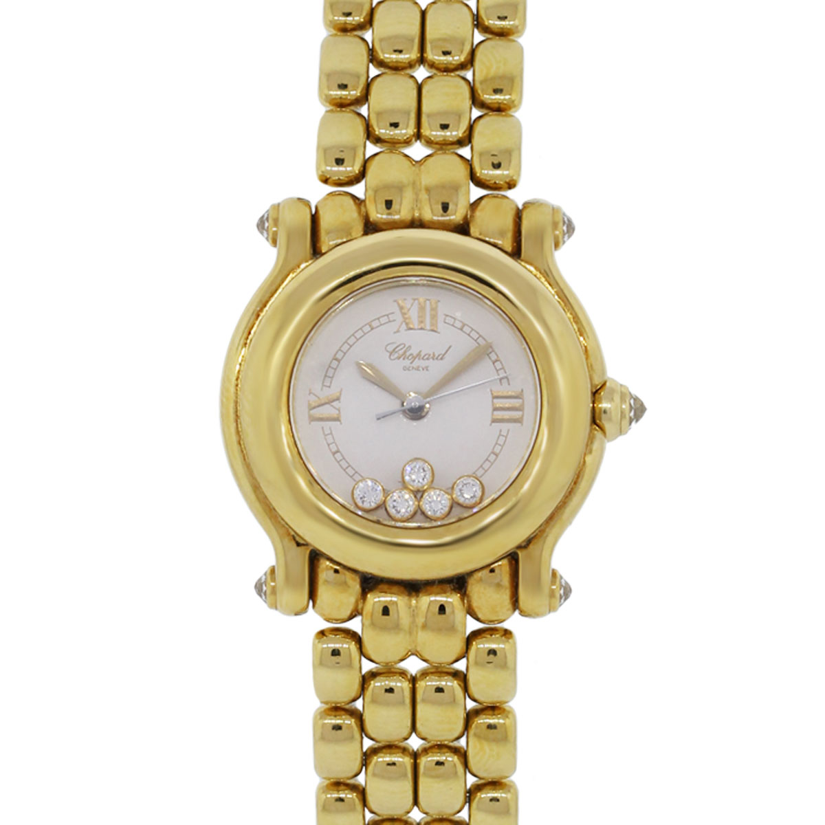 Diamond Watch Chopard Happy Sport 18k Yellow Gold Diamond Watch
