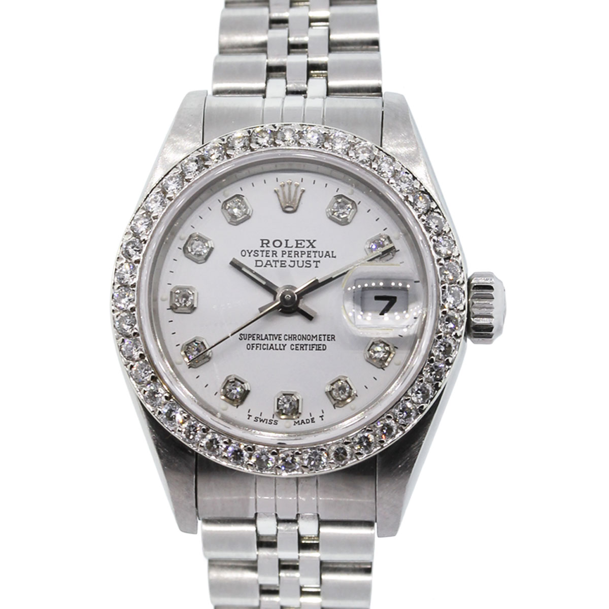 Diamond Watch Rolex Datejust 79190 Diamond Bezel Diamond Dial Watch