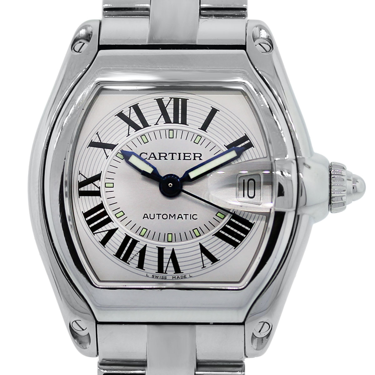 Cartier Watches Cartier Roadster 2510 Stainless Steel Silver Dial Watch