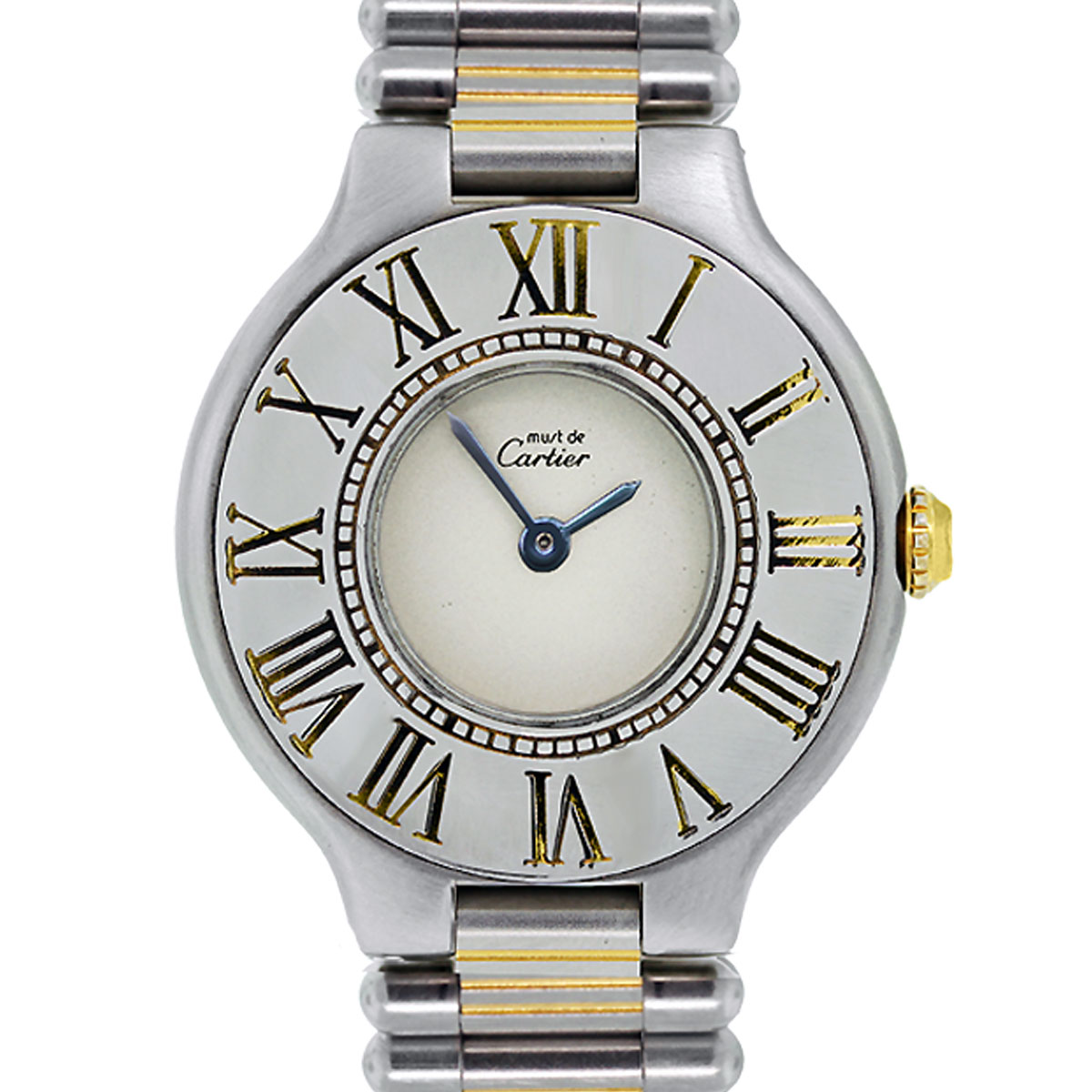 Cartier Watches Cartier Must De 21 Two Tone Quartz Ladies Watch