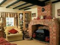 Country Cottage Style Living Rooms Furniture With Bricks ...