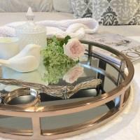 Mirrored Coffee Table Tray Furniture