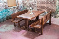 Narrow Dining Table with Bench for Small Spaces