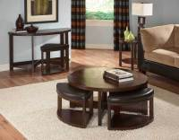 Round Coffee Table with Seats Underneath