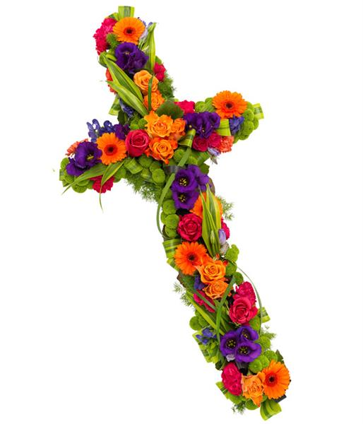 Aconitum Flower Price Vibrant Cross | Rays Florist Funeral Flowers