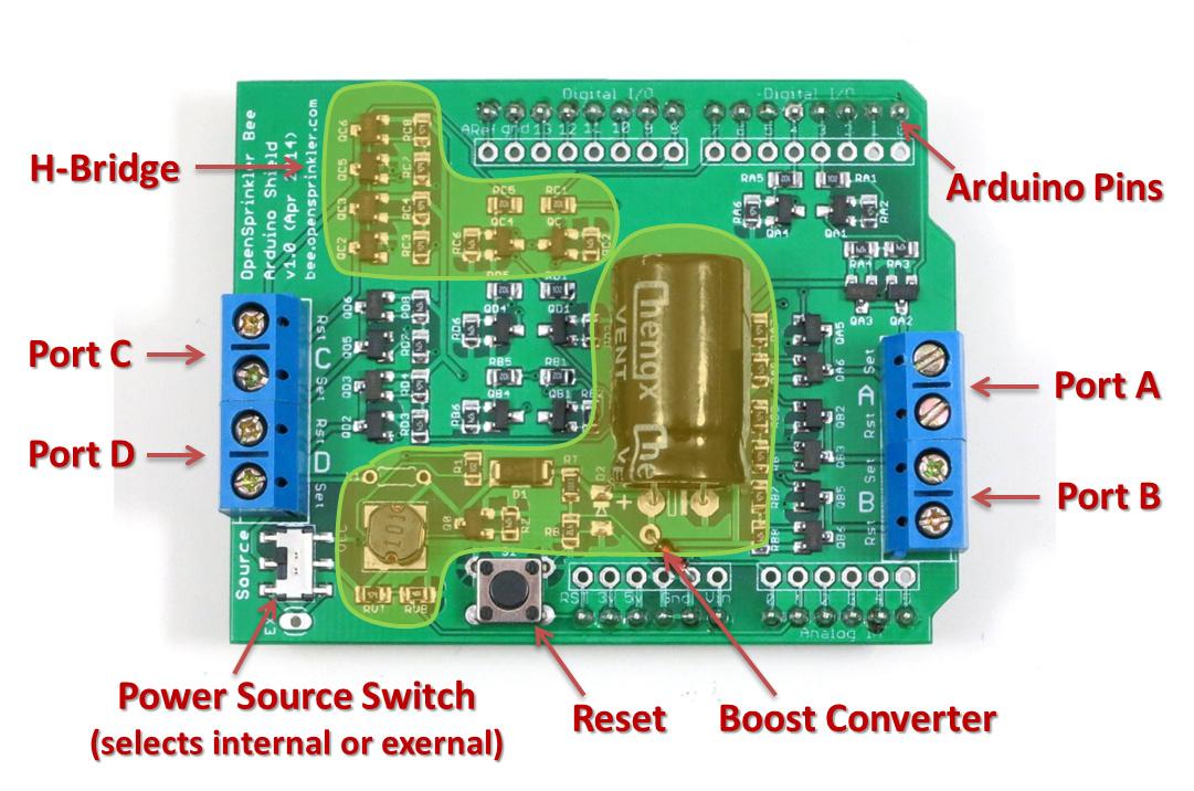 Announcing OpenSprinkler Bee (OSBee) Arduino Shield v10 « RAYSHOBBYNET