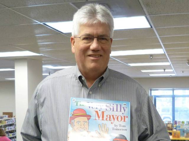Mayor Bower with his favorite book