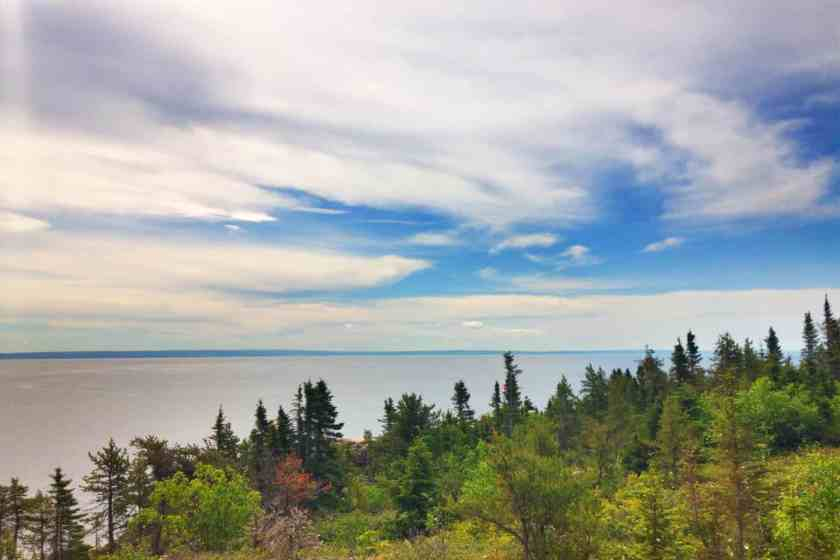 Saint Lawrence River from Le Paradis Marin campground
