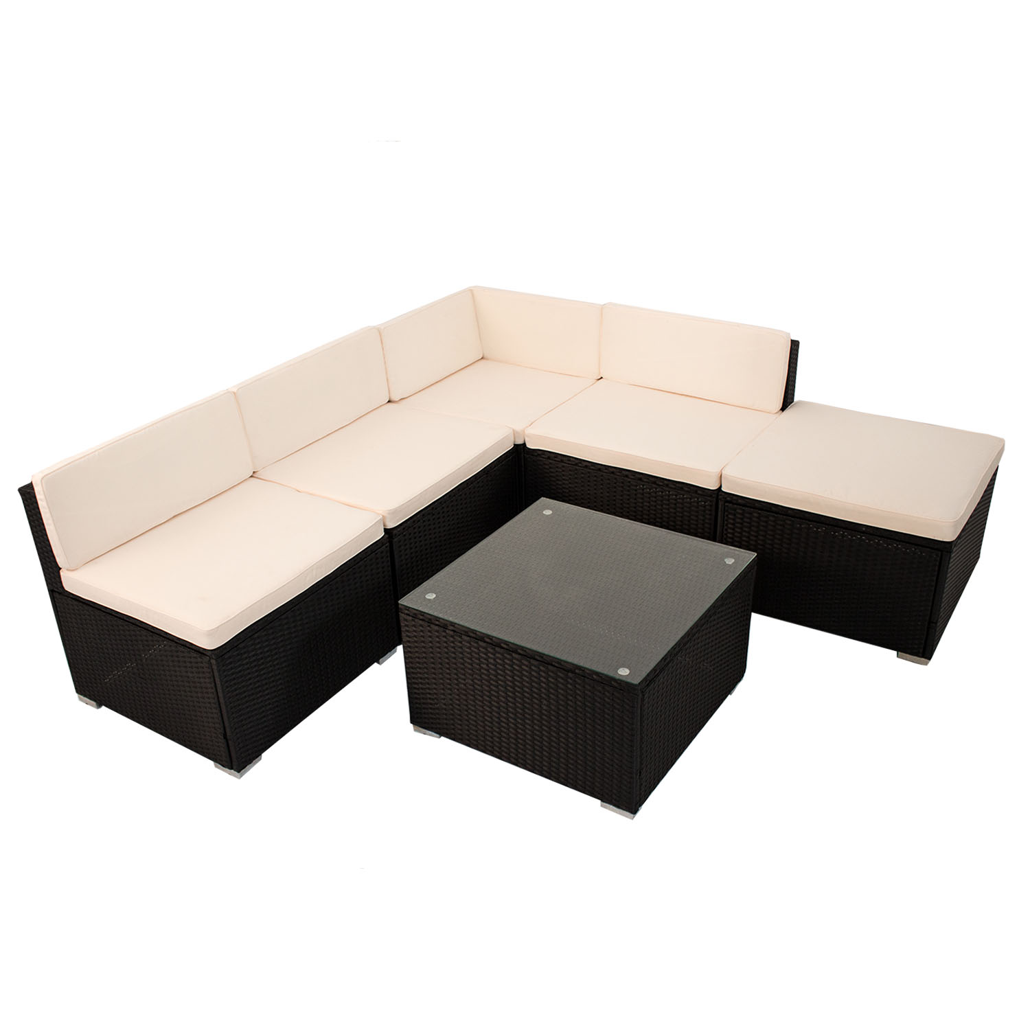 Loungemobel Rattan Amazon Beige Optik Rattan Set Lounge Polyrattan