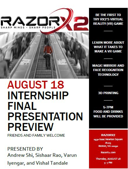 INTERNSHIP FINAL PRESENTATION PREVIEW \u2013 RazorX2