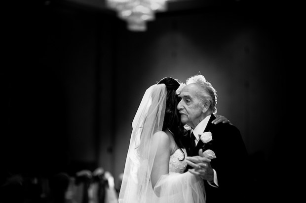The first dance of the father with the bride