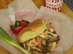pulled pork barbecue sandwich, cheater bbq