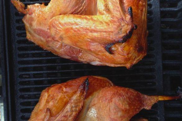 roasting turkey halves