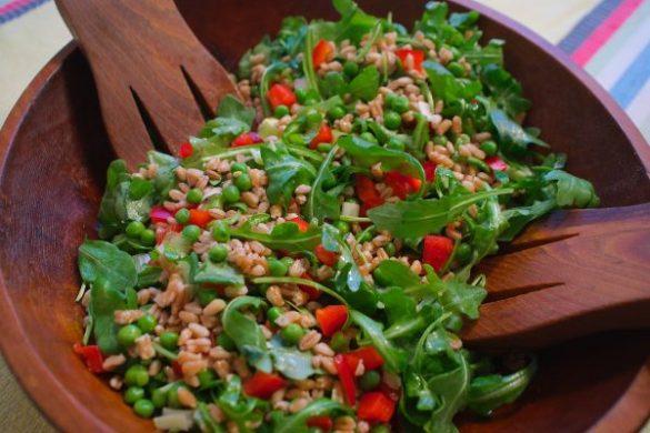 winter farro salad