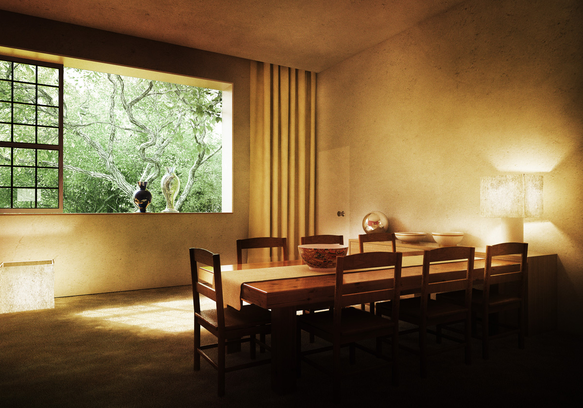Esszimmer Mexico Casa Barragan By Xoio 3d Architectural Visualization Rendering