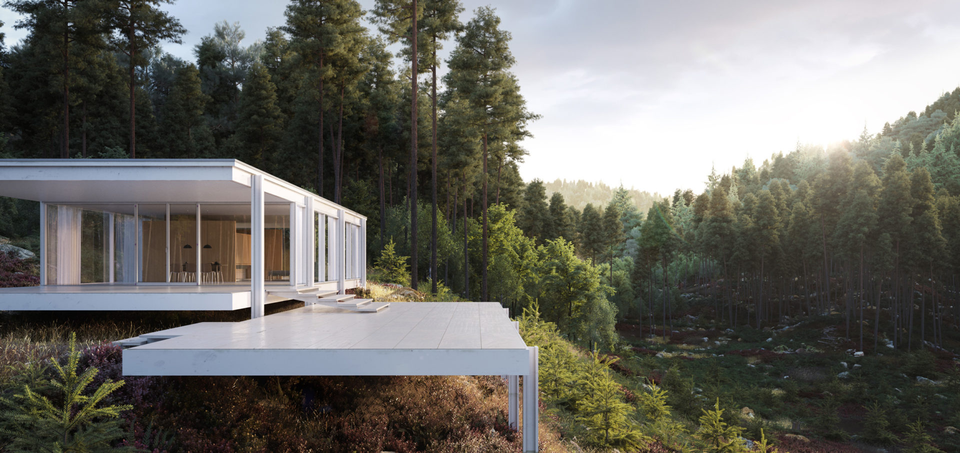 You Can Book Me Ltd Farnsworth House Full Cg Showcase Ronen Bekerman 3d
