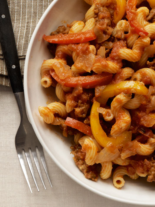 Cavatappi With Sausage Peppers And Onions Recipe