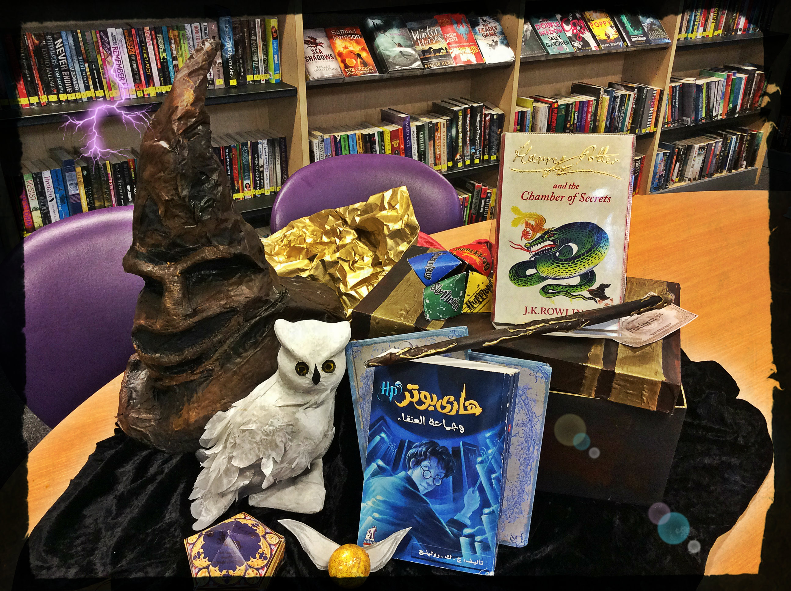 Harry Potter Display Youre A Wizard Harry Rbkc Libraries Blog