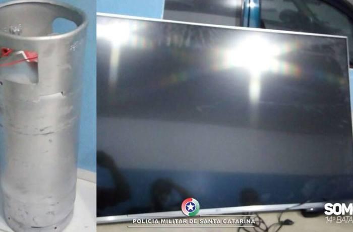 Botijão de gás é furtado em Jaraguá do Sul