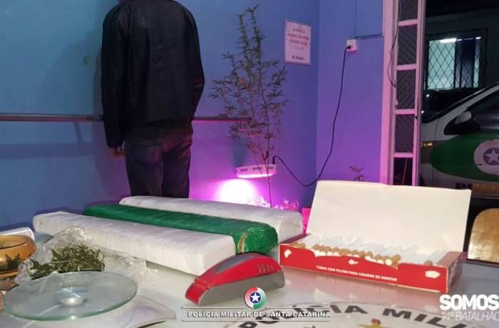 Dois traficantes são presos e quase 4 kg de maconha são apreendidos na Ilha da Figueira