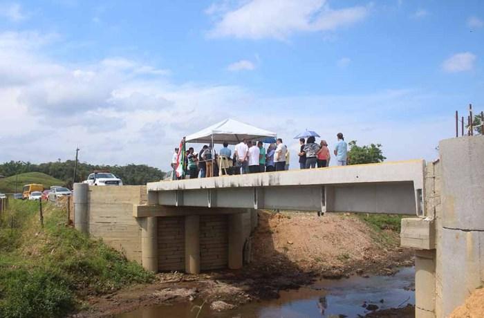 Governo do Estado entrega sétima ponte em Guaramirim