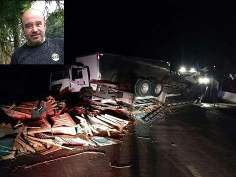 Moacir Bittencourt, 45 anos, não sobreviveu aos ferimentos e morreu no local l Foto: Divulgação/RBN