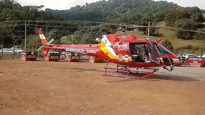 Socorristas do Arcanjo 03 auxiliaram no socorro à vítima - Foto: Arcanjo 03/Divulgação