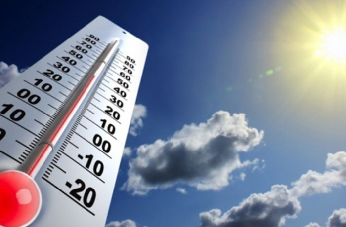 Temperatura alta e pancadas frequentes de verão