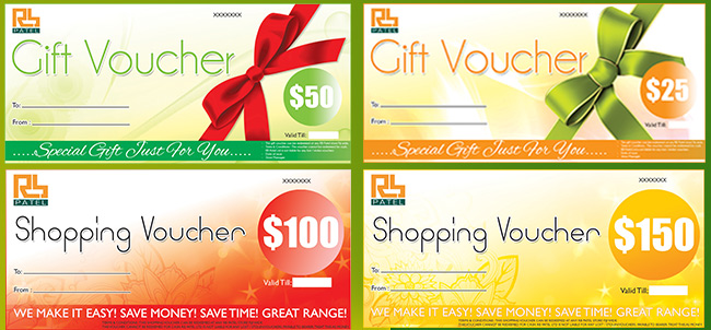 Best way to send money to Fiji Shop RB Patel Gift  Shopping - how to make vouchers