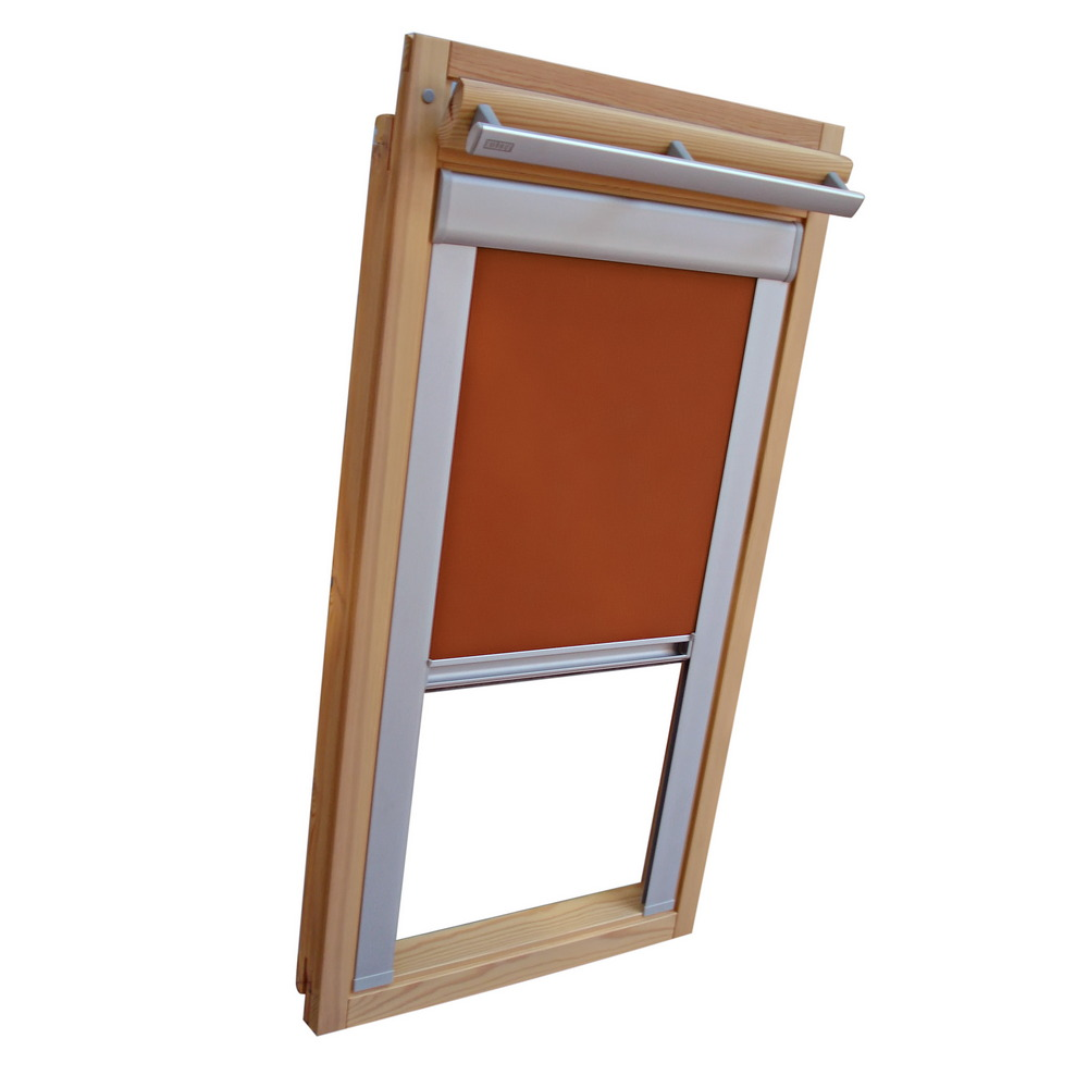 Thermo Rollo Dachfenster Verdunkelungsrollo Alu Thermo Für Velux Dachfenster Vu Vl Y Vku Terracotta
