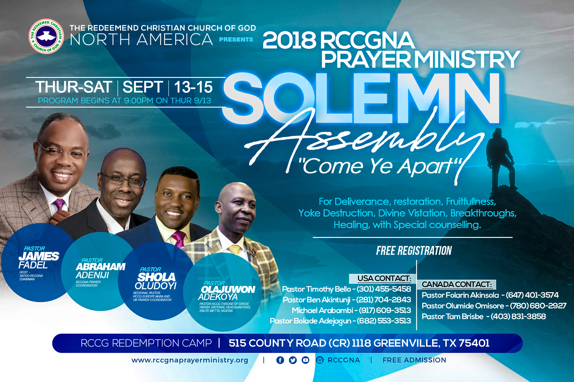 Prayer Ministry Upcoming Events 2018 Rccg North America Prayer Ministry Solemn