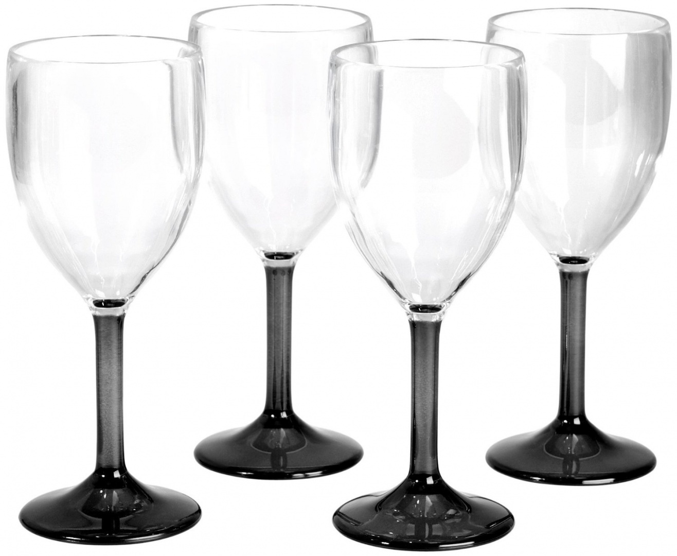Wine Glasses With Black Stems Flamefield Acrylic Wine Glasses Black Stem 10oz 290ml