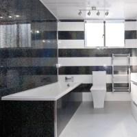 5 Black Sparkle Diamond Effect PVC Bathroom Cladding ...