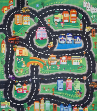 Kids Car Playmats Urban Sprawl By Gearbox Shop Online