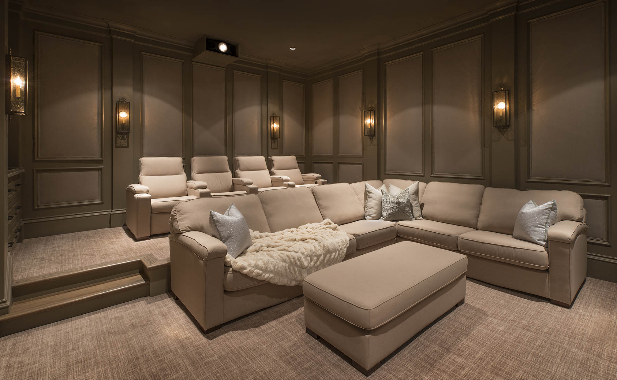 Home Theater Room Vaquero Smart Homes Featuring Control4 Media Rooms
