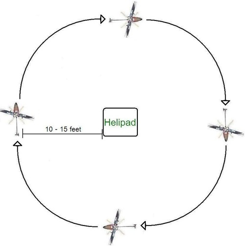 flying the rc helicopter circle circuit