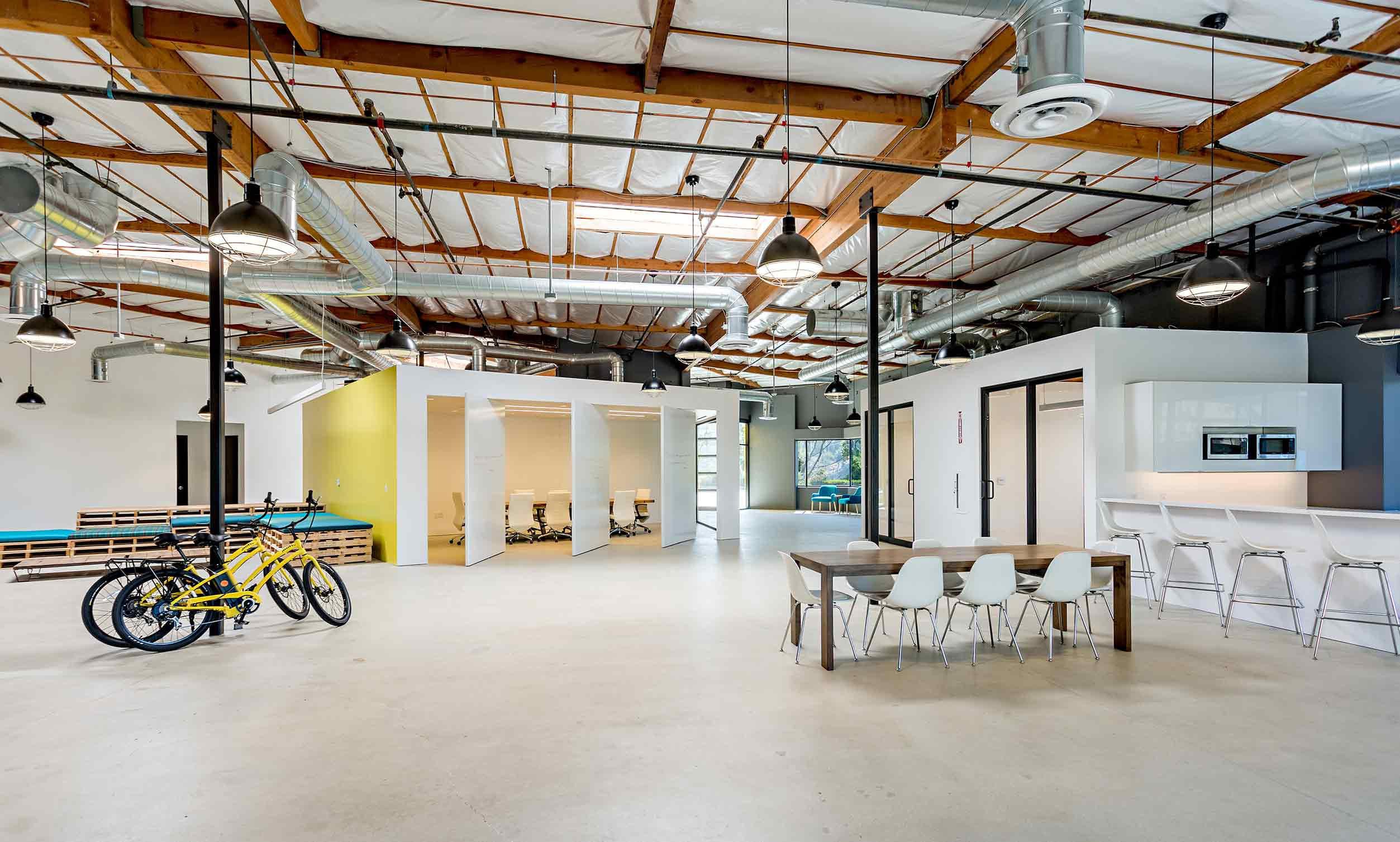 Creative Office Reception Design The Yard Rios Clementi Hale Studios
