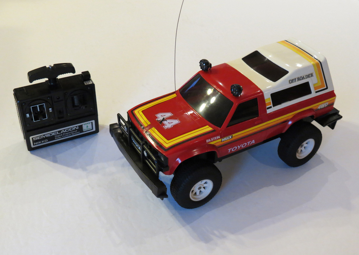 Big W Toy Cars Nikko Toyota Hilux 4wd 1982 R C Toy Memories