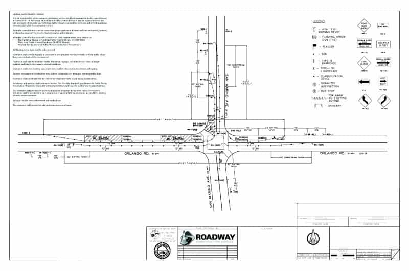 Temporary traffic control plans - RCS SAFETY - control plan