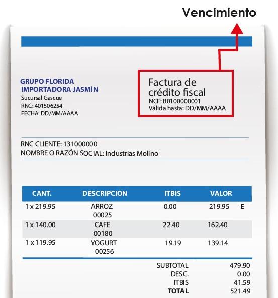 Factura Simple - Republica Dominicana