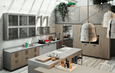 "Kitchen with mixed materials from ""150 Best New Kitchens"""