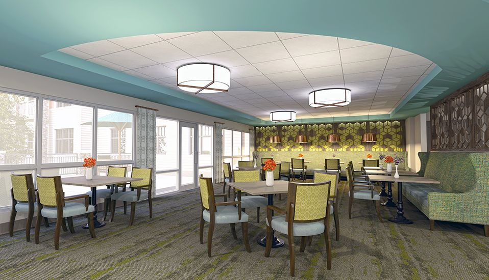 Senior Living Interiors  RDG Planning  Design