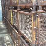 Steel Mesh Baskets 32 x 36 x 29 h 22 ID item 531