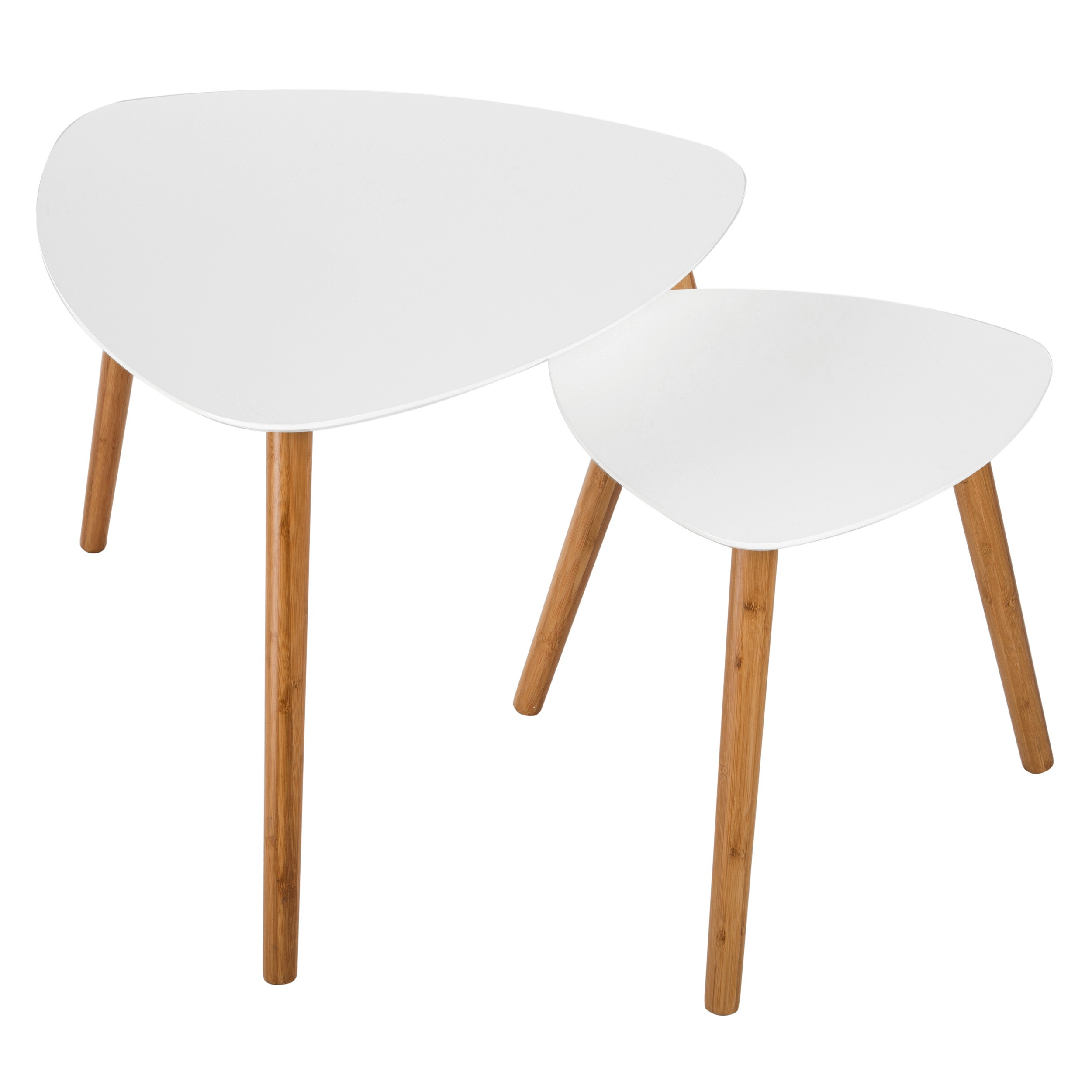 Table Basse Blanche Scandinave Table Basse Scandinave Blanche Lot De 2 Achetez Nos