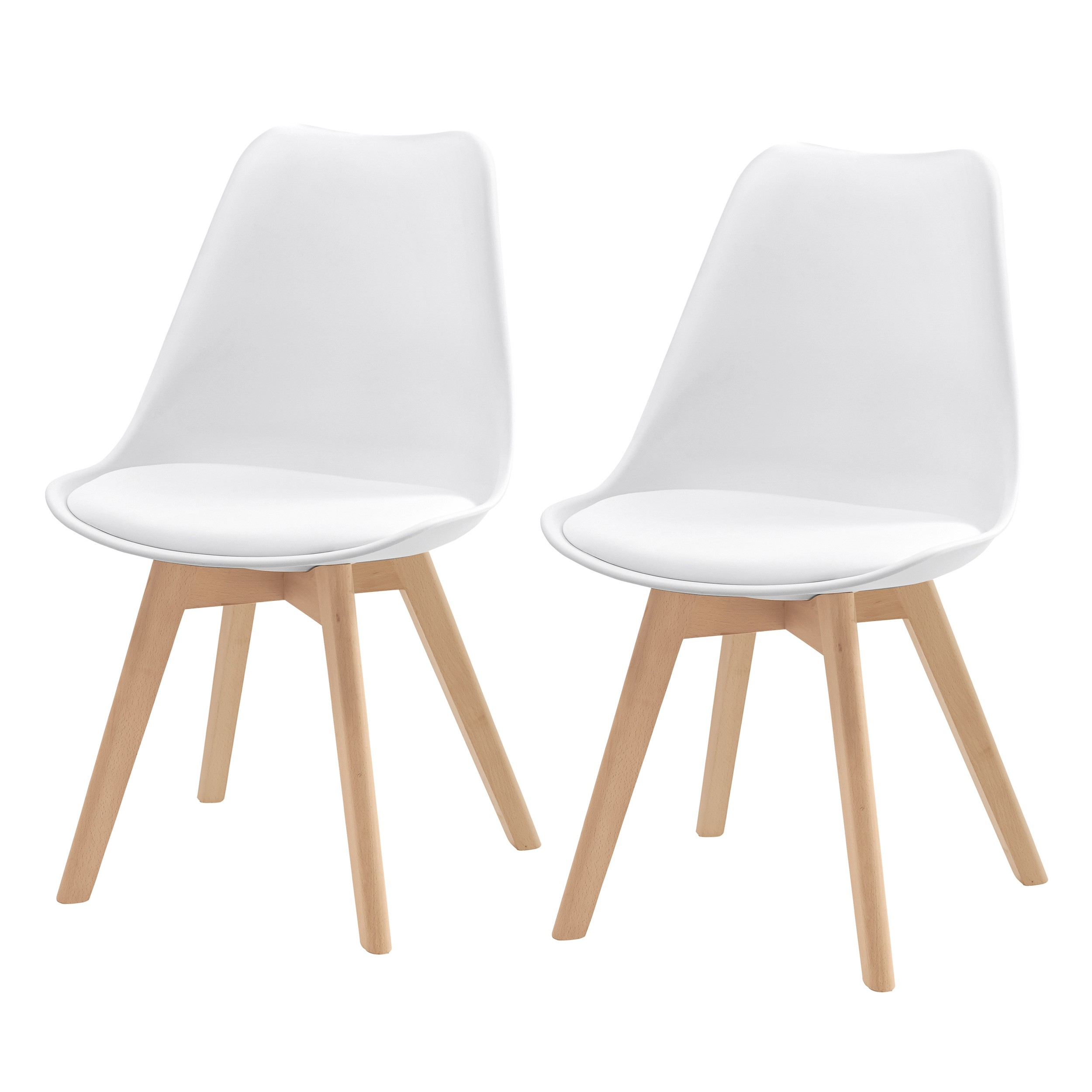 Chaise Blanche Scandinave Chaise Scandinave Lot De 2 Commandez Nos Chaises
