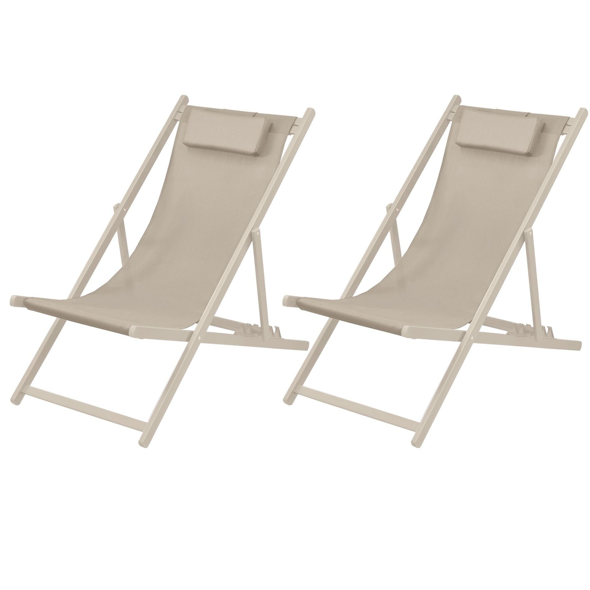 Destockage Chaise De Jardin Chaise Longue Calvi Taupe Lot De 2 Commandez Nos