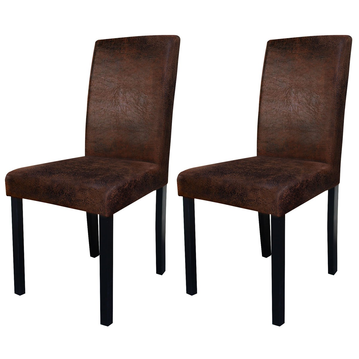 Lot De 6 Chaises Marron Chaise Havane Marron Vieilli Lot De 2