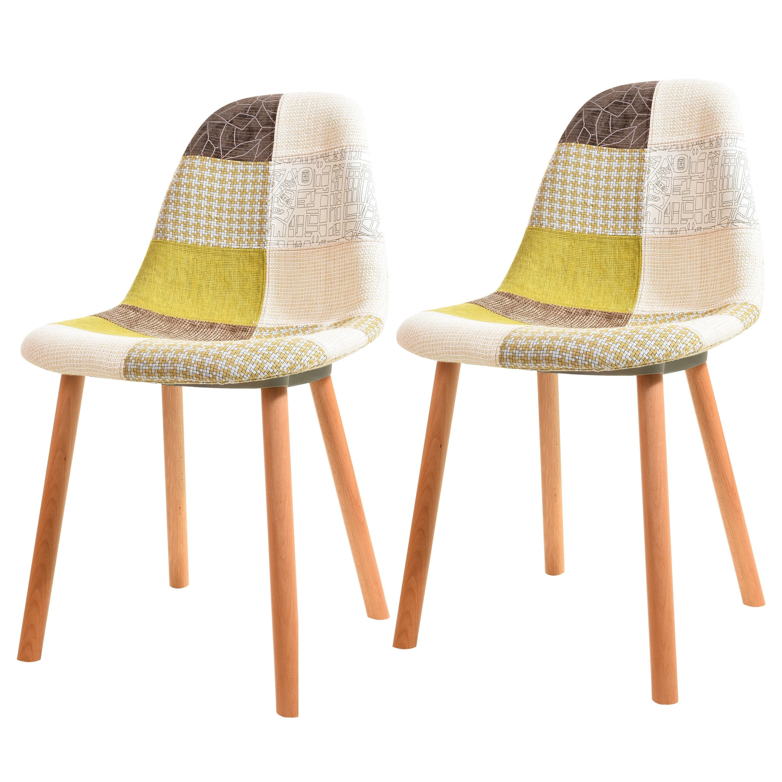 Groupon Chaises Scandinaves Chaise Scandinave Patchwork Maison Image Idée