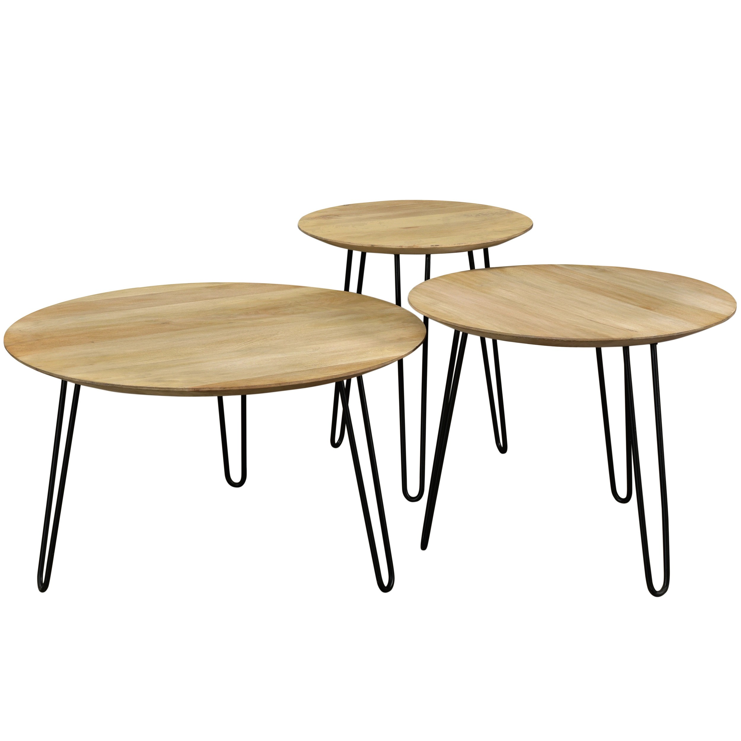 Table Gigogne En Bois Table Basse Gigogne Alcazar Lot De 3